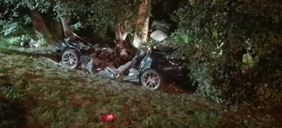 BMW uderzyło w drzewo. Zginęło dwóch młodych mężczyzn (FOTO)