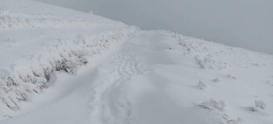 Warunki w Bieszczadach. Ogłoszono 1 stopień zagrożenia lawinowego