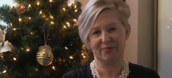 Życzenia bożonarodzeniowe od wójt gminy Sanok Anny Hałas (FILM)