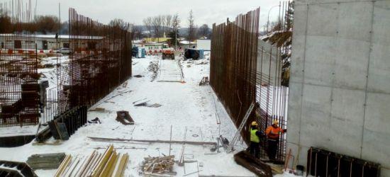 Zima na budowie obwodnicy Sanoka (ZDJĘCIA)