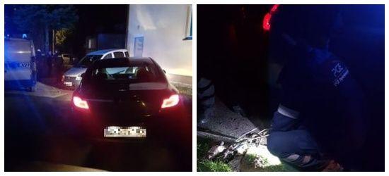 SANOK: Przeraźliwy huk, sypiące się iskry spod pojazdu! Ciągnął za sobą… latarnię (FOTO)
