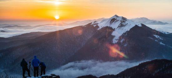 BIESZCZADY: Dzień dobry z Połoniny Wetlińskiej. Piękny wschód słońca! (FOTO)