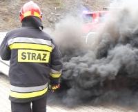 KRONIKA STRAŻACKA: Płonąca ciężarówka, samochód w rowie i plaga pożarów