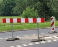 Stabilizacja osuwiska. Zamknięta droga z Sanoka do Dębnej