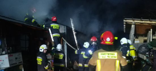 SANOK: Pożar na Kiczurach! Siedem jednostek straży walczy z ogniem! (VIDEO)