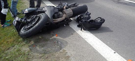 Wypadek dwóch motocyklistów (ZDJĘCIA)