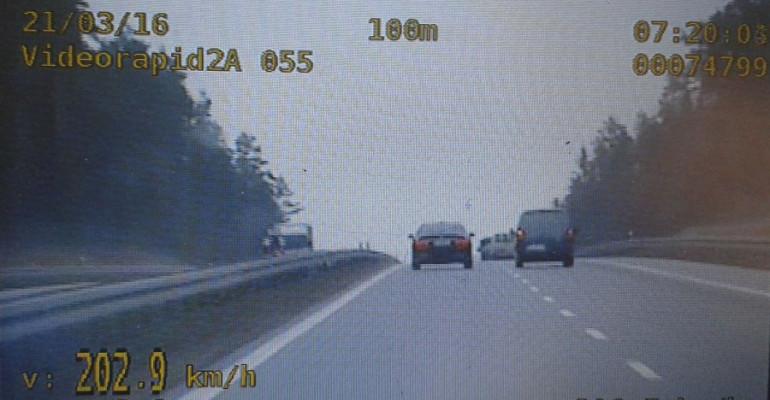 Czterech kierowców straciło prawo jazdy. Jechali za szybko