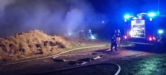 Pożar siana. Błyskawiczna akcja strażaków (FOTO)