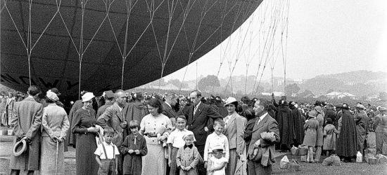 """Pierwszy lot balonem """"SANOK""""! Wyjątkowa, stara fotografia!"""