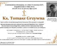 W środę Msza święta w Farze w intencji ks. Tomasza Grzywny. W czwartek uroczystości pogrzebowe