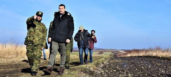 Premier Morawiecki z wizytą na granicy (FOTO)
