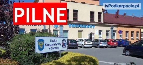 SZPITAL SANOK: Wandal zdemolował szpital i uderzył opiekuna medycznego