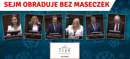 Posłowie bez maseczek! Zobacz transmisję z Sejmu (VIDEO, LIVE)
