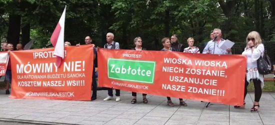 WARSZAWA: Trwa protest mieszkańców Bykowiec, Zabłociec i Trepczy (VIDEO)