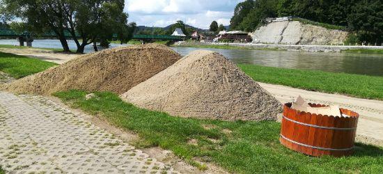 SANOK: Plaża odzyska wygląd sprzed powodzi (ZDJĘCIA)