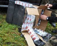 """Funkcjonariusze SG udaremnili przemyt papierosów przez tzw. """"zieloną granicę"""" (ZDJĘCIA)"""