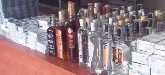 LUTOWISKA: Znaleziono 800 paczek nielegalnych papierosów i prawie 300 litrów alkoholu