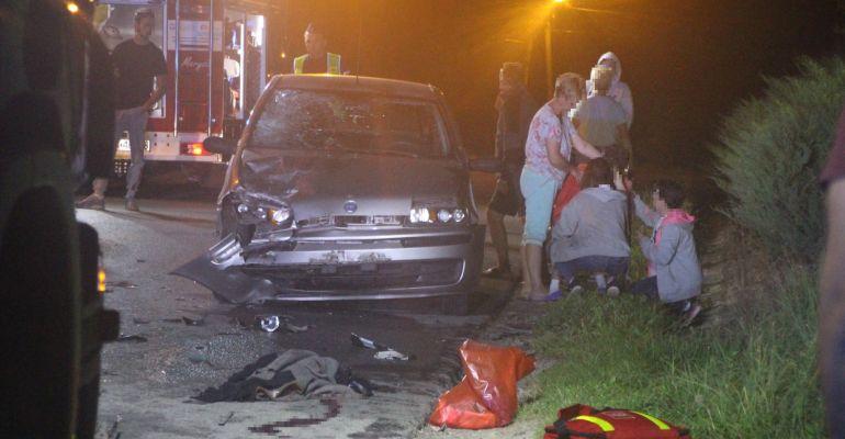 Poważny wypadek w Strachocinie. Ciężko ranny młody motocyklista (ZDJĘCIA)