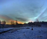 Piękny wschód słońca w mroźny poranek (ZDJĘCIA)