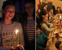 Ciemność, świece, modlitwa i… śniadanie. Wyjątkowe roraty u Franciszkanów (ZDJĘCIA)
