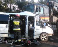 Śmierć na drodze. Zginęli dwaj Ukraińcy pracujący przy budowie mostu (ZDJĘCIA)