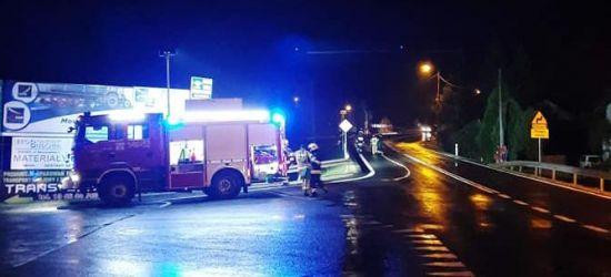 ZAGÓRZ: Samochód uderzył w bariery (ZDJĘCIA)