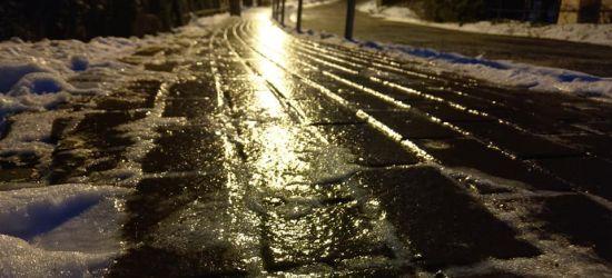 SANOK: Lód na drogach i chodnikach. Uważajmy! (ZDJĘCIA)