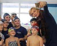 Otylia Jędrzejczak w Sanoku. Mistrzyni olimpijska w pływaniu ambasadorką budowy sanockiego basenu (ZDJĘCIA)