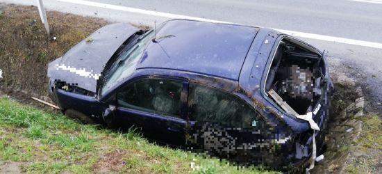 ZAGÓRZ: Samochód wjechał do rowu. Zatrzymał się na przepuście (ZDJĘCIA)