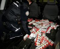 KROŚCIENKO: Blisko 3 tysiące paczek papierosów wiózł Ukrainiec w podłogowej skrytce (ZDJĘCIA)