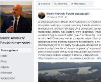 BIESZCZADY: Ostra reakcja starosty bieszczadzkiego odnośnie utworzenia Turnickiego Parku Narodowego