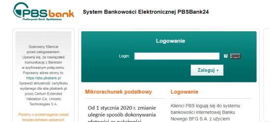 SYGNAŁ OD INTERNAUTY ws. PBS: Działa bankowość elektroniczna!