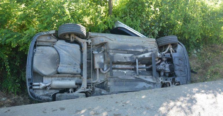 PODKARPACIE. Pijany kierowca audi wjechał do rowu (ZDJĘCIA)