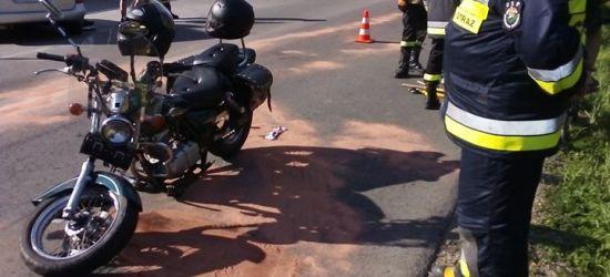 Nie ustąpił pierwszeństwa motocykliście. Dwie osoby w szpitalu! (ZDJĘCIA)