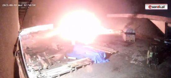 SANOK. Podpalacz na Okulickiego! 2 tys. zł nagrody za pomoc (VIDEO, ZDJĘCIA)