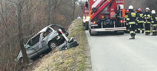 UWAGA: Auto uderzyło w drzewo. Zakleszczona osoba (FOTO)