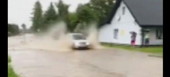Ulewy w powiecie. Tak było dziś w Besku! (VIDEO, FOTO)