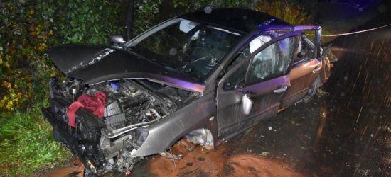 AKTUALIZACJA: Rozbity samochód. Kierowca uciekł, bo był pijany (ZDJĘCIA)
