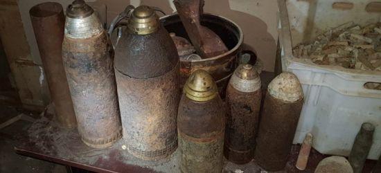 LESKO: Przechowywał w domu amunicję i niewybuchy (FOTO)