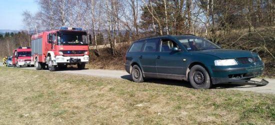 DYDNIA: Wypadek z udziałem pijanego motocyklisty (ZDJĘCIA)