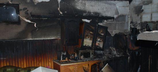 PODKARPACIE. 63-latek zginął w pożarze domu (ZDJĘCIA)