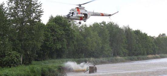 Śmigłowiec straży granicznej w akcji przeciwpowodziowej (VIDEO, ZDJĘCIA)