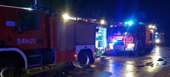 Wypadek w Tyrawie Wołoskiej na serpentynach. Są poszkodowani