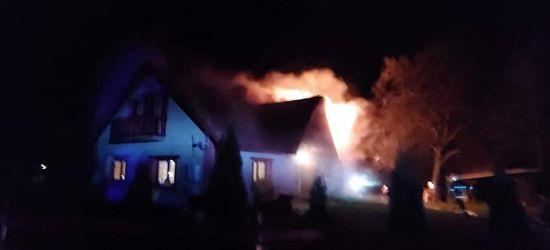 BIESZCZADY: Pożar domu w Berezce. Akcja strażaków (FOTO)