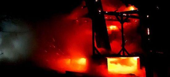 W Prusieku paliła się altana. Akcja strażaków (ZDJĘCIA)