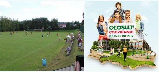 UDOSTĘPNIJ I GŁOSUJ! Mieszkańcy Zagórza walczą o pieniądze na remont stadionu piłkarskiego