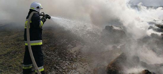 AKTUALIZACJA MRZYGŁÓD: Olbrzymi pożar balotów siana. Strażacy walczyli z ogniem kilkanaście godzin (FOTO)