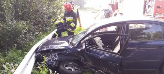 Zderzenie volkswagena z fiatem. Dwie kobiety w szpitalu (FOTO)