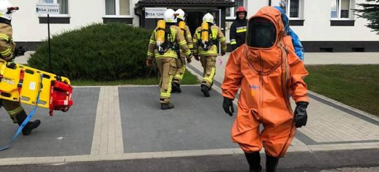 Paczka z nieznaną substancją. Ćwiczenia strażaków (FOTO)