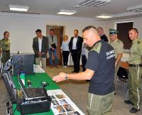 Węgierscy przedstawiciele Policji Granicznej z wizytą w Bieszczadzkim Oddziale SG